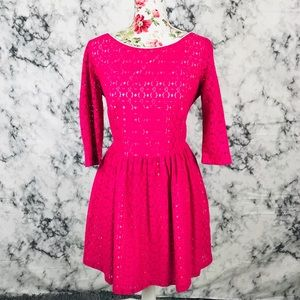 Lilly Pulitzer 12 pink and cream dress